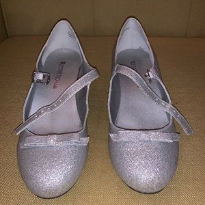 Silver Glitter Mary Janes